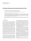 "Báo cáo hóa học: "" Fast Motion Estimation and Intermode Selection for H.264"""