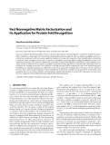 """Báo cáo hóa học: """"  Fast Nonnegative Matrix Factorization and Its Application for Protein Fold Recognition"""""""