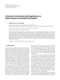 "Báo cáo hóa học: "" A Posterior Union Model with Applications to Robust Speech and Speaker Recognition"""