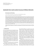 """Báo cáo hóa học: """" Systematic Errors and Location Accuracy in Wireless Networks"""""""