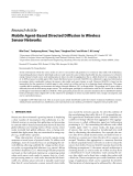 """Báo cáo hóa học: """"Research Article Mobile Agent-Based Directed Diffusion in Wireless Sensor Networks"""""""