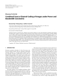"""Báo cáo hóa học: """" Research Article Combined Source-Channel Coding of Images under Power and Bandwidth Constraints"""""""