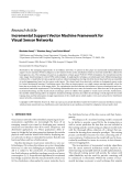 """Báo cáo hóa học: """" Research Article Incremental Support Vector Machine Framework for Visual Sensor Networks"""""""