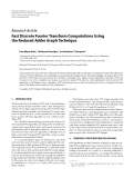 """Báo cáo hóa học: """" Research Article Fast Discrete Fourier Transform Computations Using the Reduced Adder Graph Technique"""""""