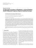 """Báo cáo hóa học: """"  Research Article An Approach for Synthesis of Modulated M-Channel FIR Filter Banks Utilizing the Frequency-Response Masking Technique"""""""