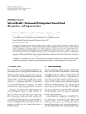 """Báo cáo hóa học: """" Research Article Virtual Reality System with Integrated Sound Field Simulation and Reproduction"""""""