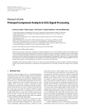 """Báo cáo hóa học: """"  Research Article Principal Component Analysis in ECG Signal Processing"""""""