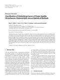 """Báo cáo hóa học: """" Research Article Classification of Underlying Causes of Power Quality Disturbances: Deterministic versus Statistical Methods"""""""