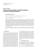 """Báo cáo hóa học: """"  Research Article Towards Structural Analysis of Audio Recordings in the Presence of Musical Variations"""""""