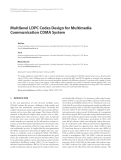 "Báo cáo hóa học: ""  Multilevel LDPC Codes Design for Multimedia Communication CDMA System"""