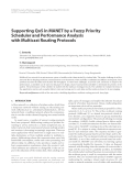 """Báo cáo hóa học: """"  Supporting QoS in MANET by a Fuzzy Priority Scheduler and Performance Analysis with Multicast Routing Protocols"""""""