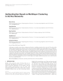 """Báo cáo hóa học: """" Authentication Based on Multilayer Clustering in Ad Hoc Networks"""""""