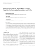 """Báo cáo hóa học: """"  An Evaluation of Media-Oriented Rate Selection Algorithm for Multimedia Transmission in MANETs"""""""