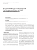 "Báo cáo hóa học: "" Secure, Redundant, and Fully Distributed Key Management Scheme for Mobile Ad Hoc Networks: An Analysis"""