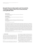 """Báo cáo hóa học: """" Dynamic Resource Reservation and Connectivity Tracking to Support Real-Time Communication among Mobile Units Tullio Facchinetti"""""""
