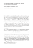 "Báo cáo hóa học: "" THE LEFSCHETZ-HOPF THEOREM AND AXIOMS FOR THE LEFSCHETZ NUMBER"""