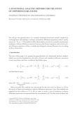 A FUNCTIONAL-ANALYTIC METHOD FOR THE STUDY OF DIFFERENCE EQUATIONS EUGENIA N. PETROPOULOU AND