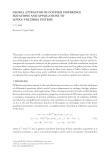 GLOBAL ATTRACTOR OF COUPLED DIFFERENCE EQUATIONS AND APPLICATIONS TO LOTKA-VOLTERRA SYSTEMS C. V.