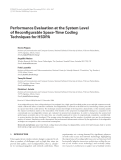 """Báo cáo hóa học: """" Performance Evaluation at the System Level of Reconfigurable Space-Time Coding Techniques for HSDPA Kostas Peppas"""""""