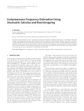 """Báo cáo hóa học: """"  Instantaneous Frequency Estimation Using Stochastic Calculus and Bootstrapping"""""""