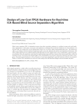 "Báo cáo hóa học: "" Design of Low-Cost FPGA Hardware for Real-time ICA-Based Blind Source Separation Algorithm"""