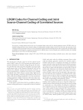 """Báo cáo hóa học: """" LDGM Codes for Channel Coding and Joint Source-Channel Coding of Correlated Sources"""""""