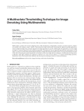 "Báo cáo hóa học: ""  A Multivariate Thresholding Technique for Image Denoising Using Multiwavelets"""
