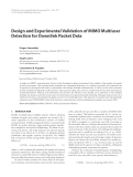 """Báo cáo hóa học: """" Design and Experimental Validation of MIMO Multiuser Detection for Downlink Packet Data"""""""