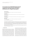 "Báo cáo hóa học: "" A Low-Power Two-Digit Multi-dimensional Logarithmic Number System Filterbank Architecture for a Digital Hearing Aid"""
