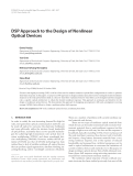 "Báo cáo hóa học: "" DSP Approach to the Design of Nonlinear Optical Devices Geeta Pasrija"""