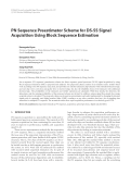 "Báo cáo hóa học: "" PN Sequence Preestimator Scheme for DS-SS Signal Acquisition Using Block Sequence Estimation"""