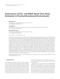 "Báo cáo hóa học: "" Performance of GCC- and AMDF-Based Time-Delay Estimation in Practical Reverberant Environments Jingdong Chen"""