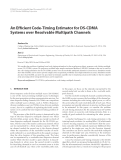 "Báo cáo hóa học: "" An Efficient Code-Timing Estimator for DS-CDMA Systems over Resolvable Multipath Channels"""
