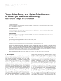 """Báo cáo hóa học: """"  Teager-Kaiser Energy and Higher-Order Operators in White-Light Interference Microscopy for Surface Shape Measurement"""""""