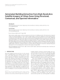 "Báo cáo hóa học: "" Automated Building Extraction from High-Resolution Satellite Imagery in Urban Areas Using Structural, Contextual, and Spectral Information"""