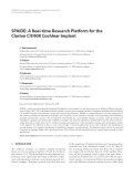 "Báo cáo hóa học: "" SPAIDE: A Real-time Research Platform for the Clarion CII/90K Cochlear Implant"""