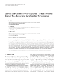 "Báo cáo hóa học: ""  Carrier and Clock Recovery in (Turbo-) Coded Systems: ´ Cramer-Rao Bound and Synchronizer Performance"""