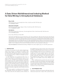 """Báo cáo hóa học: """" A Data-Driven Multidimensional Indexing Method for Data Mining in Astrophysical Databases"""""""