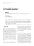 "Báo cáo hóa học: ""  Influence of the Antennas on the Ultra-Wideband Transmission"""