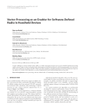 """Báo cáo hóa học: """" Vector Processing as an Enabler for Software-Defined Radio in Handheld Devices"""""""