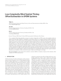 "Báo cáo hóa học: ""Low-Complexity Blind Symbol Timing Offset Estimation in OFDM Systems"""