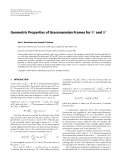 "Báo cáo hóa học: "" Geometric Properties of Grassmannian Frames for R2 and R3"""