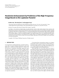 "Báo cáo hóa học: "" Resolution Enhancement by Prediction of the High-Frequency Image Based on the Laplacian Pyramid"""
