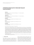 "Báo cáo hóa học: ""  A Statistical Approach to Automatic Speech Summarization Chiori Hori"""