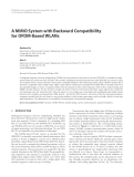 "Báo cáo hóa học: ""  A MIMO System with Backward Compatibility for OFDM-Based WLANs"""