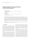 "Báo cáo hóa học: ""  Global Sampling for Sequential Filtering over Discrete State Space"""