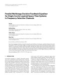 """Báo cáo hóa học: """" Parallel Multistage Decision Feedback Equalizer for Single-Carrier Layered Space-Time Systems in Frequency-Selective Channels"""""""