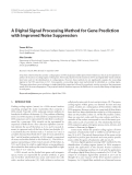 "Báo cáo hóa học: "" A Digital Signal Processing Method for Gene Prediction with Improved Noise Suppression"""