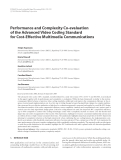 "Báo cáo hóa học: ""  Performance and Complexity Co-evaluation of the Advanced Video Coding Standard for Cost-Effective Multimedia Communications"""