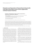 "Báo cáo hóa học: ""  Detection and Separation of Speech Event Using Audio and Video Information Fusion and Its Application to Robust Speech Interface"""